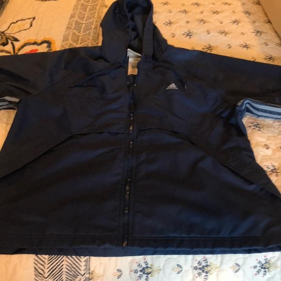 Details about Vintage ADIDAS Windbreaker Jacket Large RN#88387 CA#00411